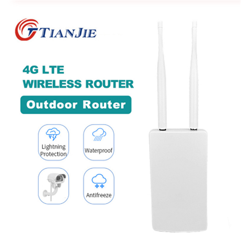 TIANJIE Outdoor 4G/LTE WiFi Router Wireless WAN/LAN Port Wifi AP Sim Card Slot Wifi Hotspot Waterproof CPE Router Modem Dongle