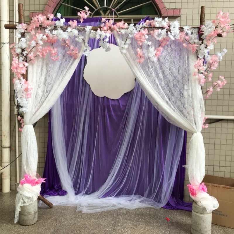 48/72cm 10 metros Cristal Sheer Organza Tecido Rolo de Tule para Decoração DIY Arcos de Casamento Cadeira Caixilhos Partido suprimentos Favor 75