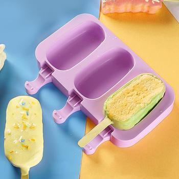 Juego de moldes de silicona para polos, utensilios de cocina para hornear, utensilios de Fabricación de hielo congelados