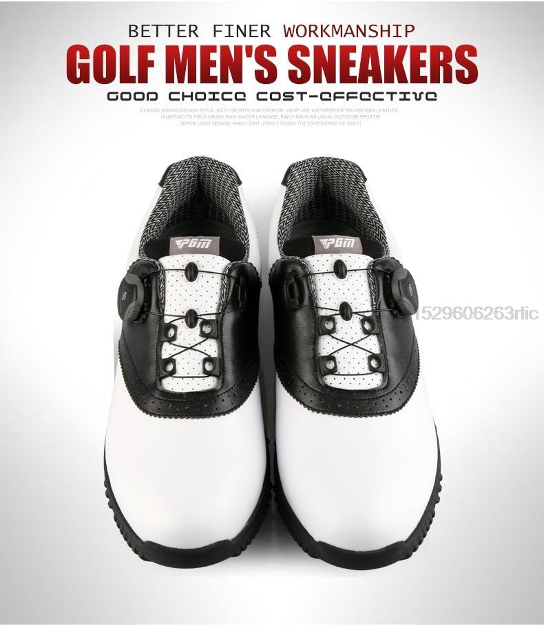 PGM Men Golf Shoes Waterproof Sports Shoes Rotating Buckles Anti-slip Sneakers Multifunctional Golf Trainers