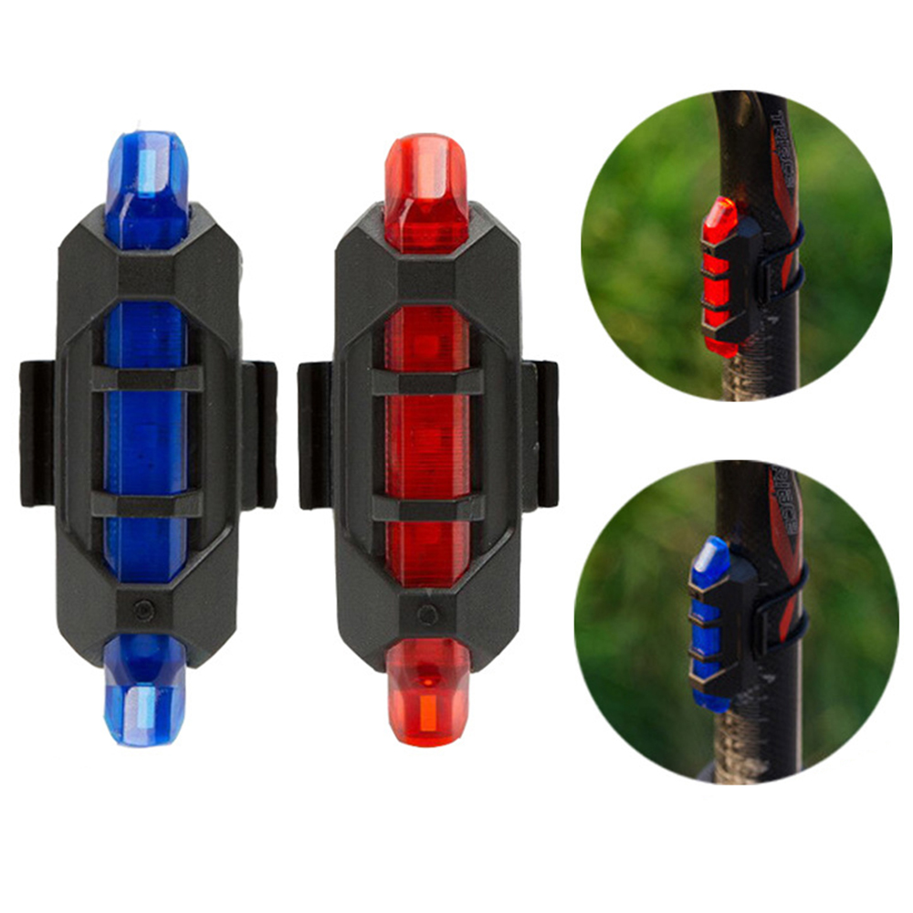 Mountain Bike Safety Warning Light LED Taillight Cycling Portable Light USB Style Rechargeable Cycling Light TSLM2