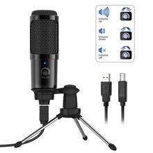 Metal USB Condenser Recording Microphone Condenser for Computer Studio Mic Laptop MAC with Shock Mount for Recording Youtube cardioid directional condenser microphone for youtube broadcast gaming usb microphone for computer recording mic with stand