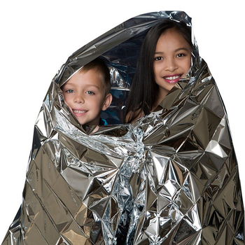 210*130CM Water Proof Emergency Survival Rescue Blanket Foil Thermal Space First Aid Sliver Rescue Curtain Outdoor image