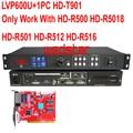 LVP600U + 1 шт. HUIDU T901 USB (поддержка JPG mp4) светодиодный видеопроцессор вход USB/HDMI/DVI/VGA/CVBS поддержка P3.91 P6 светодиодный экран дисплея