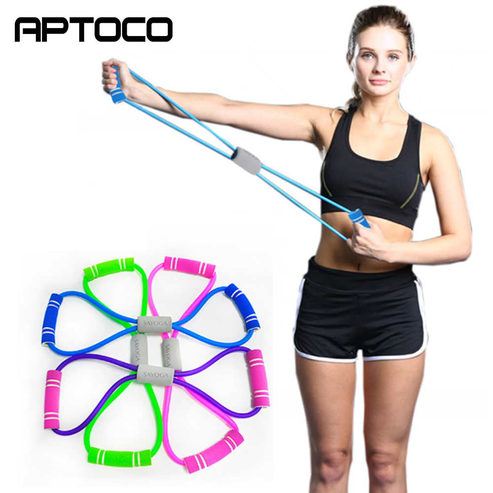 8 Word Fitness Chest Expander Rope Resistance Bands Rubber Bands For Elastic Equipment Expander Workout Gym Exercise Trainer