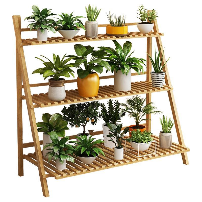 Para Plantas Wood Estanteria Jardin Plantenrekken Wooden Shelves For Rak Bunga Balcony Shelf Plant Rack Dekoration Flower Stand