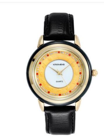 Cinto de Couro Relógio à Prova Estudante do Zodíaco Jades Pedra Masculino Relógio Mecânico Ouro-incrustado D12 Água 12 Não