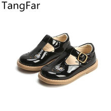 Spring Children Patent Leather Loafers Breathable Soft Sole Non-slip Kids Fashion Shoes Square Toe Toddler Cozy Moccasins(China)