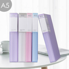 A5 Display Book 40/60 Pages Transparent Insert Folder Document Storage Bag for Bank Campus File Office Workplace Family