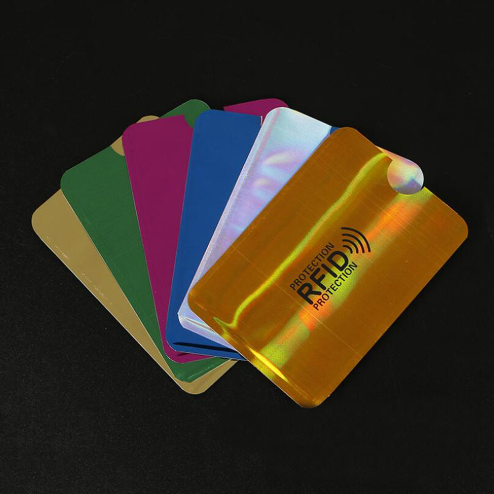 Anti Rfid Blocking Reader Lock Card Holder Id Bank Card Case Protection Aluminium Metal Smart Anti-theft Credit Card Holder