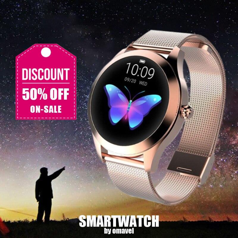 Smartwatches Christmas 2020 OMAVEL 2020 KW10 Women Sport Smartwatch Wireless Smart Watches