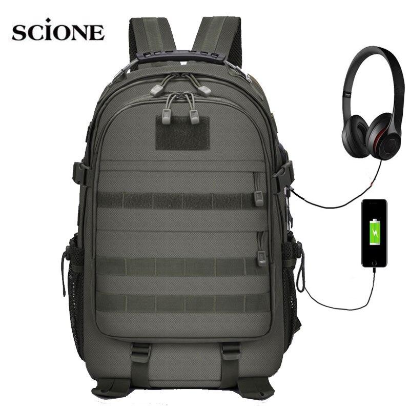 USB Molle Military Backpack Camping Bag Backpacks Travel Bags Sports Tactical Sac De Sport Hiking Trekking Army Mochila XA603AA