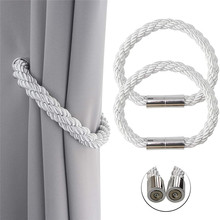 Magnetic Curtain Tiebacks Decorative Rope Holdbacks Convenient Ties Backs for Thin or Thick Window Draperies No Tools Required