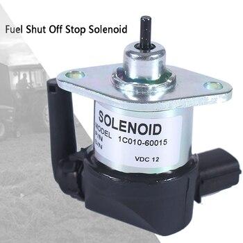 Hot Stop Solenoid 1C010-60015 Fuel Shut Off Motor Emergency Professional Parts Excavator Replacement For Kubota M6800 M8200 M854