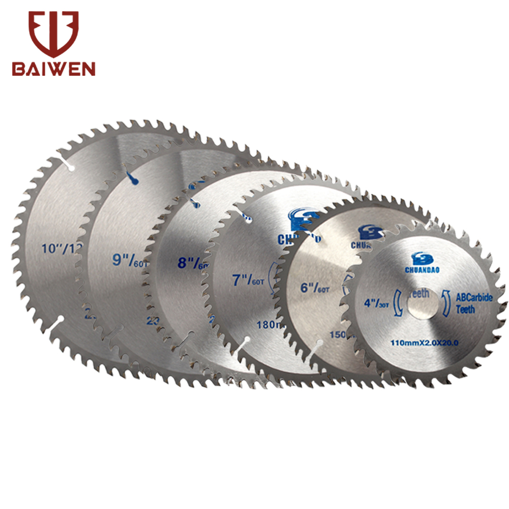 110/150/180/200/230/250/300/350mm Circular Saw Blade Wood Cutting Aluminum And Wood With Woodworking Carbide Rotating Tool