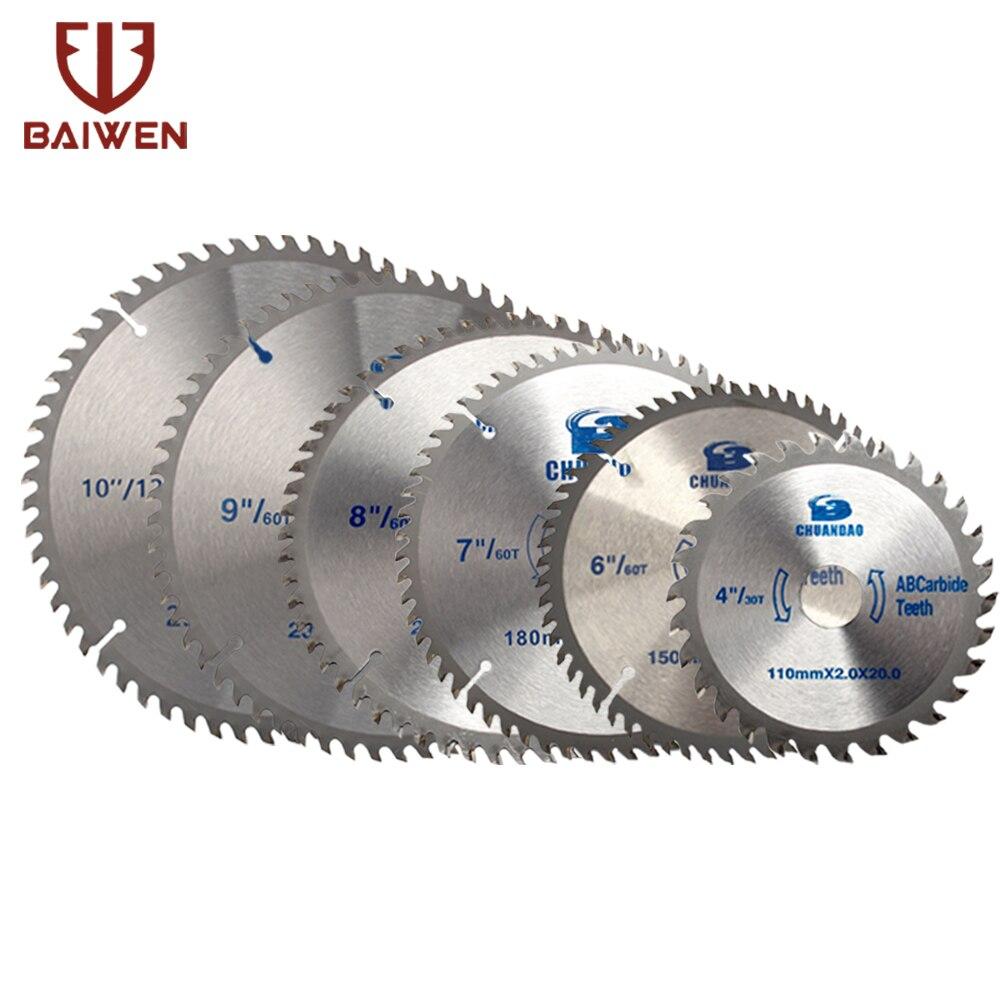 110 мм-400 мм карбидная циркулярная пила режущий диск резка алюминия и дерева 40/60/80/100/120 зубцов
