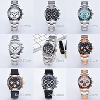 Parnis 39mm Top luxury Quartz Watch Men Chronograph Top Brand Luxury Pilot Business Waterproof Sapphire Crystal men WristWatch