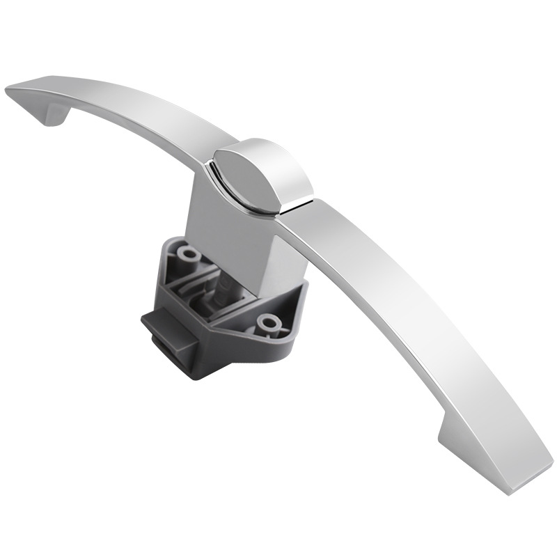 Curved Handle Button Lock, Trailer Barn Furniture Cabinet Door Lock, Furniture Hardware