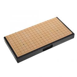 Estilo retro chinês jogo de tabuleiro weiqi damas mesa dobrável magnético ir jogo de xadrez jogo de xadrez presentes de brinquedo ir jogo
