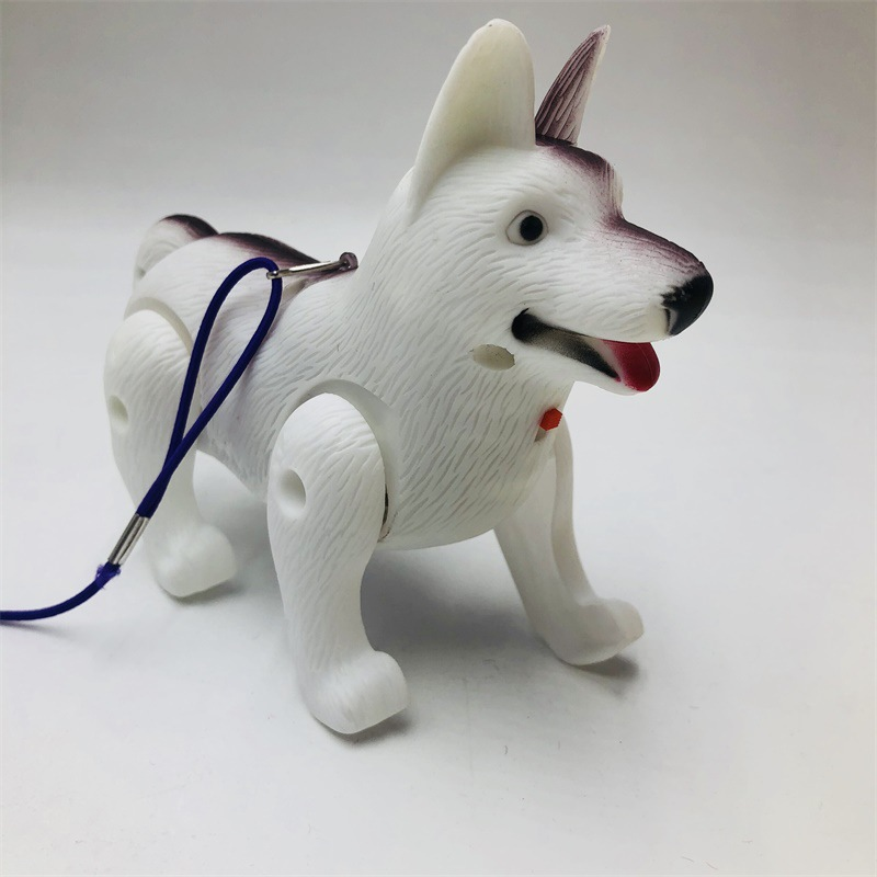 Leash Dogs Shining Music Electric Dog Pet Dog Doll With Rope Children Night Market Stall Toy Hot Selling