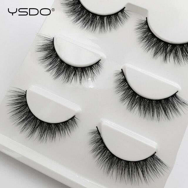 3 Pairs mink false eyelashes natural long 3d mink lashes fluffy wispy fake lashes thick cilios makeup eyelash extension tools 4