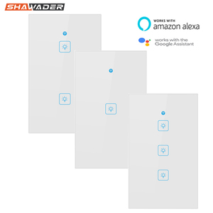 Image 1 - Wifi Smart Light Switch Touch Glass Panel  US Rectangle Wireless Electrical App Remote Voice Control work for Alexa Google Home