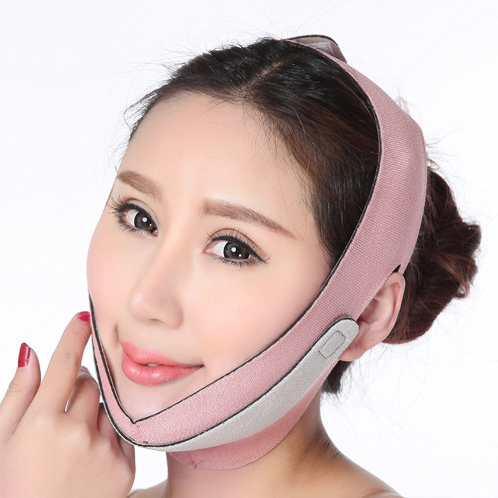 Delicate V Face Slimming Mask Belt Neck Cheek Wrinkle Removal Double Chin Lifting Firming Sleep Band Facial Thin Bandage