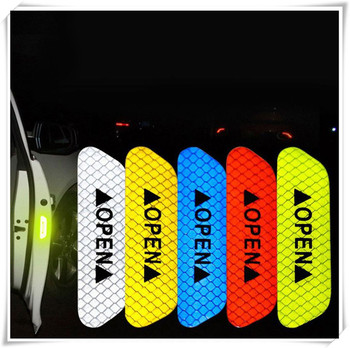 Car OPEN Reflective Tape Warning Mark Notice Bicycle for BMW F15 X5M E71 E87 E63 E64 F06 X6 X6M E82 E46 E90 image