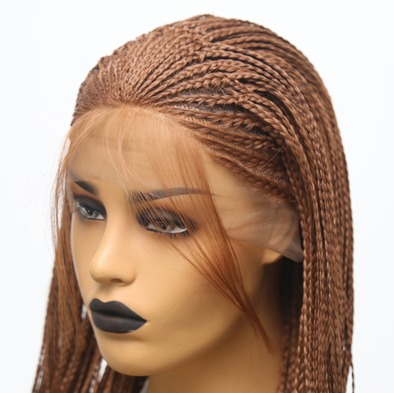 Charisma Wig Brown Braids-Wig Hairline Baby-Hair Lace-Front Color Natural Synthetic Box
