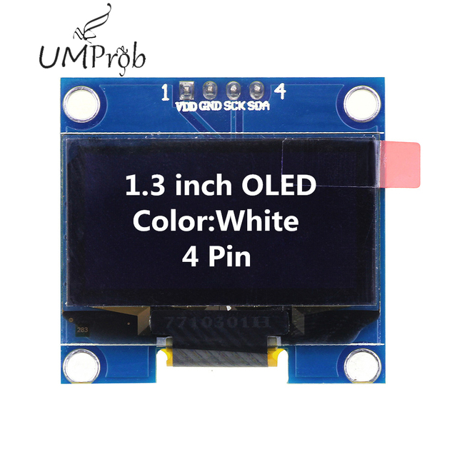 0.91 Inch 128x32 IIC I2C White / Blue OLED LCD Display DIY Module SSD1306 Driver IC DC 3.3V 5V for arduino 4
