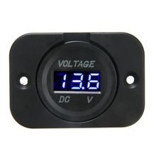 For 12V-24V Vehicles 1pc Blue LED Digital Voltmeter Panel Professional Car Motorcycle Voltage Meter Mayitr