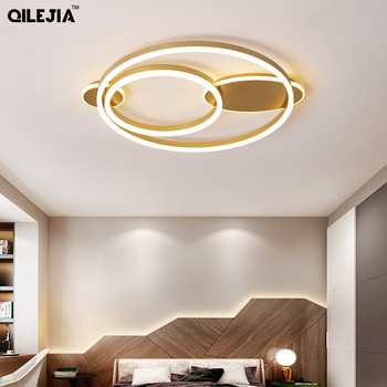 Modern ceiling light Bedroom lamp luxury style led ceiling lamp warm and romantic golden round creative personality study lamp 1