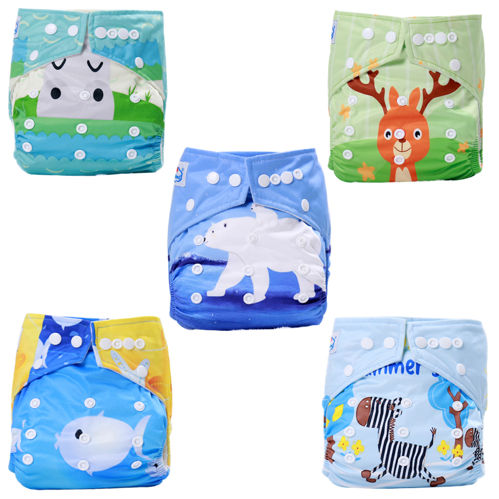 Babyland Cloth Nappy Suede Diaper 20pcs +20pcs Bamboo Charcoal Inserts 5-layers +20pcs Diaper Bags Zipper Bags Wetbags My Choice