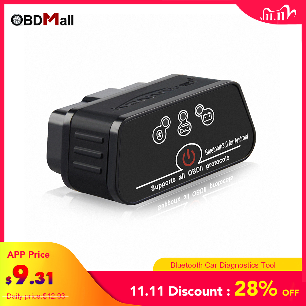V1 5 ELM327 Obd2 Bluetooth Auto Scanner Adapter EML 327 v 1 5 for Android OBD Car Diagnostics Auto Tool