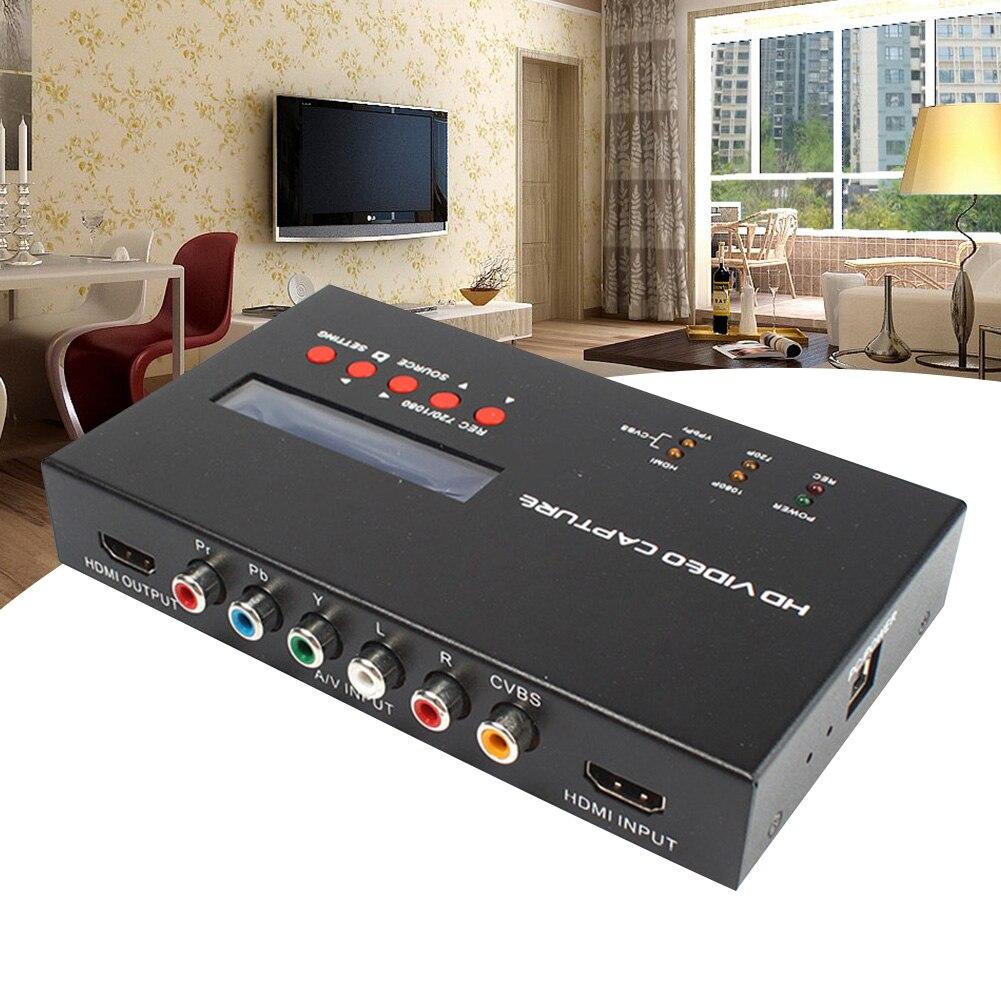 YY 283S Schwarz Converter Video Capture Box 1080P HDMI TV Aufnahme Karte ABS Durable Spiel Mikrofon Eingang Mit Fernbedienung - 4