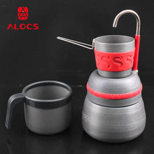 Alocs portabel outdoor camping kaffee topf kaffee herd CW-EM01 reise set