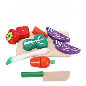 Simulation Küche Pretend Spielzeug Schneiden Obst Gemüse Set Holz Klassische Spiel Montessori Pädagogisches Spielzeug Für Kinder Kinder Geschenk