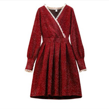 Large size women's spring 2020 annual meeting small fragrance bright silk tweed