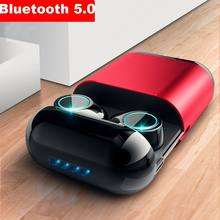 5.0 Bluetooth Headphones TWS Earbuds Wireless Bluetooth Earphones Stereo Headset Bluetooth Earphone With Mic and Charging Box 2017 newest k6 business bluetooth earphone headphones stereo wireless handsfree car driver bluetooth headset with storage box