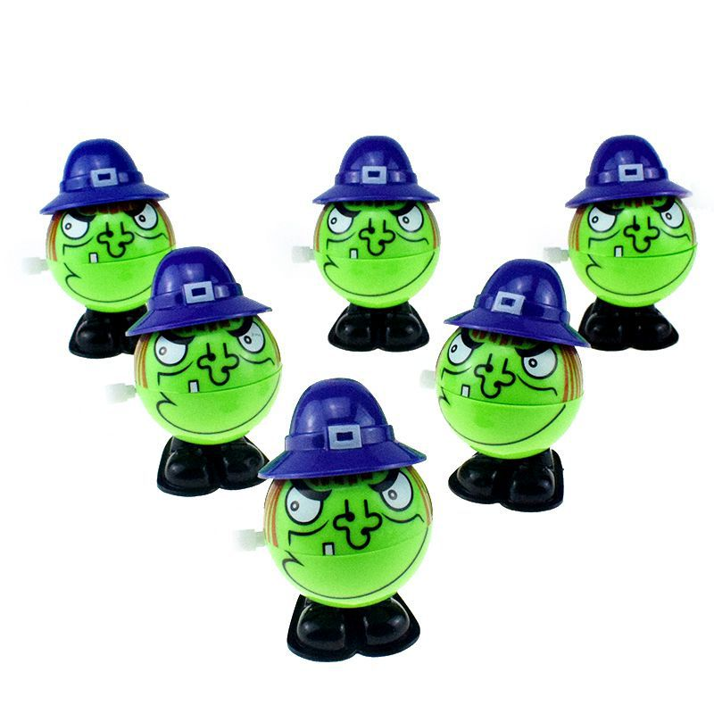 New And Interesting Four-Winding Chain Jumping Green Witch Witch Halloween Toy
