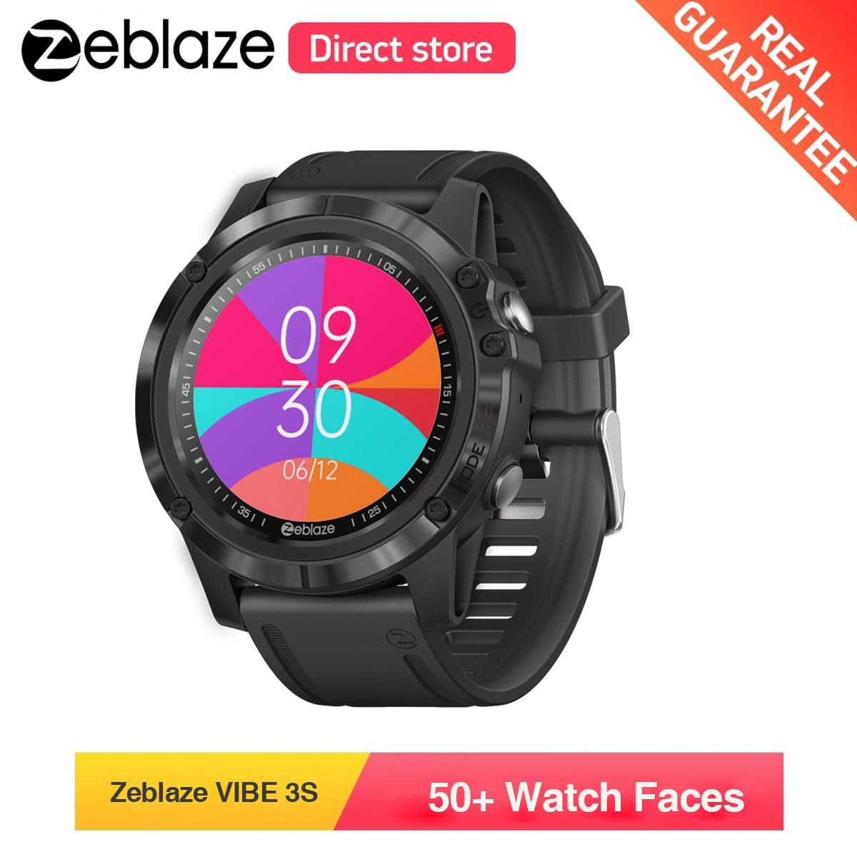 [50 + защита от ультрафиолета циферблатов] Zeblaze VIBE 3S bluetooth 5 0 Смарт часы возможен