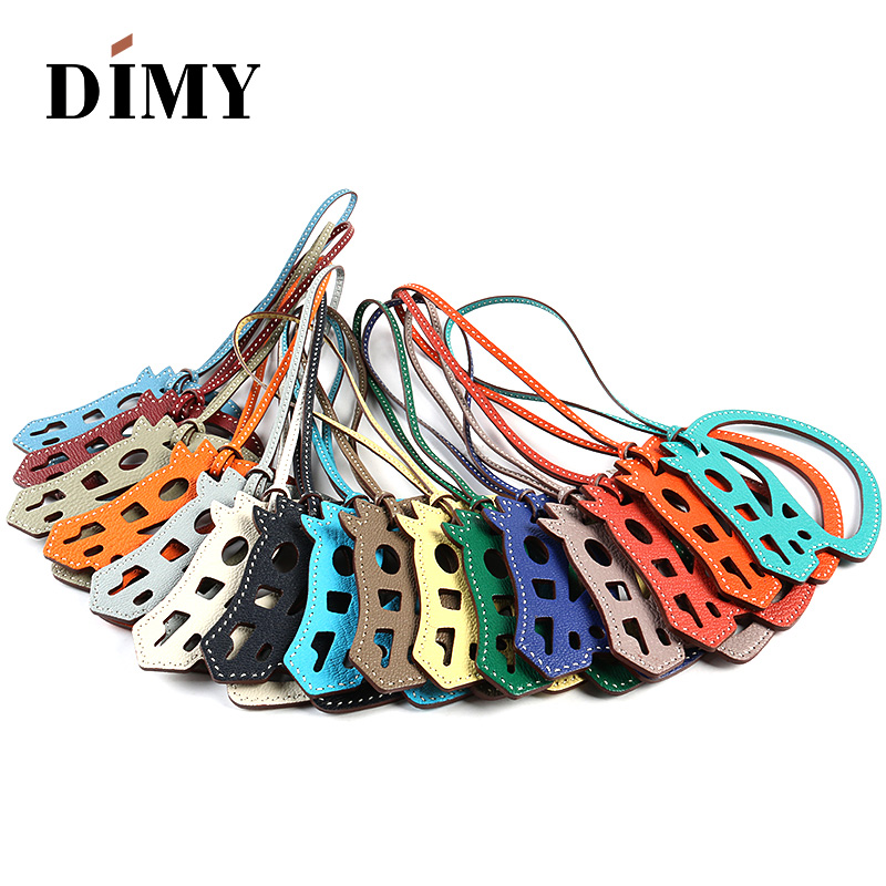DIMY 2019 H Home Pony Pendant Hand-stitched Goat Leather Bag Pendant Hollow Single-Line Horse Head Charm Leather Charm