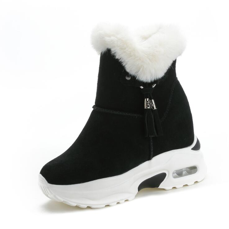 Image 3 - Snow Boots Women Shoes Woman Boots Winter Boots Ankle Boots Thick Increased 2019 Winter New Warm Comfortable Casual Boots X165-in Ankle Boots from Shoes