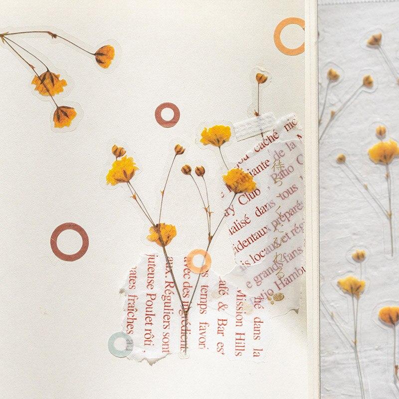 1 лист Kawaii Цветок Наклейка s милый клей Декор наклейка s растение ПЭТ наклейка для детей DIY Скрапбукинг дневник канцелярские принадлежности