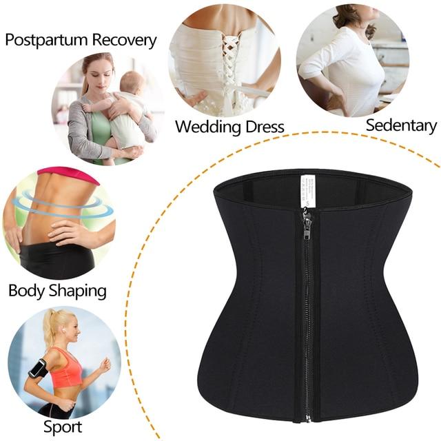 Neoprene Sweat Sauna Waist Trimmer Belt Body Shaper Abdominal Trainer Corset Fat Burning Sports Girdles Modeling Straps Workout 5