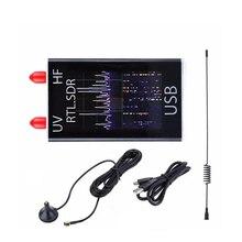 Prosciutto 100KHz-ricevitore Radio definito Software R820T 1.7 del sintonizzatore di USB di HF RTL-SDR della banda completa 8232 GHz con l'antenna ed il cavo di USB