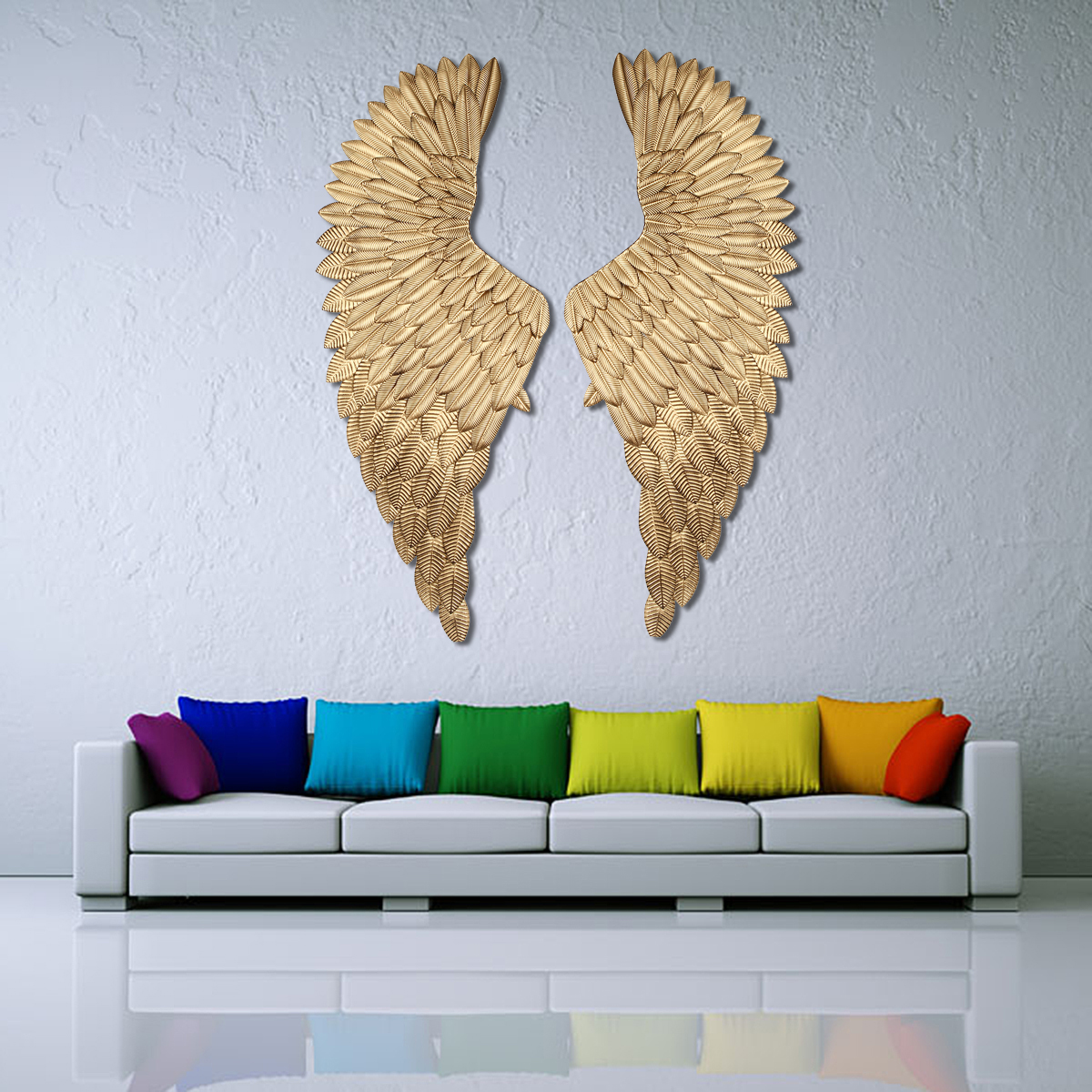 Wall Decoration Angel Wings Retro Metal wings Bar Coffee Shop Wall Decoration Home Bedroom Living room decor Christmas Industry