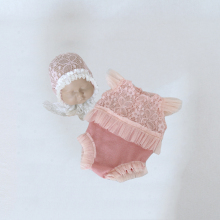 Outfit Photo-Props Newborn Baby-Girl And Romper Bonnet Diaper Lace-Hat Ruffed Sewing