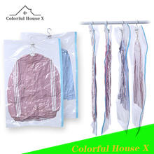 Hanging Vacuum Suction Clothing Compression Bag Transparent Large Thickened Dust Bag Clothes Collapsible Finishing Dust Cover
