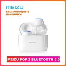 Meizu POP2 TW50S 진정한 무선 이어 버드 블루투스 5.0 터치 컨트롤 IPX5 방수 스포츠 Meizu POP наушнини